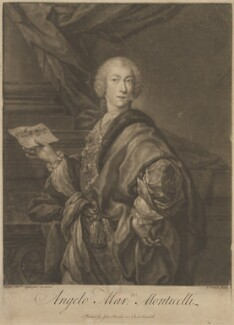 Angelo Maria Monticelli, by John Faber Jr, published by  John Bowles, after  Andrea Casali - NPG D14314