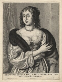 Frances Weston (née Stuart), Countess of Portland, by Richard Gaywood, after  Sir Anthony van Dyck - NPG D17974