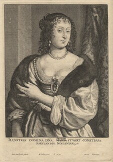 Frances Weston (née Stuart), Countess of Portland, by Wenceslaus Hollar, after  Sir Anthony van Dyck - NPG D17975