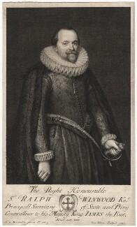 Sir Ralph Winwood, by George Vertue, after  Michiel Jansz. van Miereveldt - NPG D17977