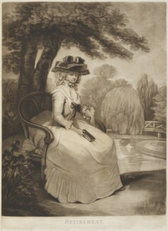 Mrs Brudenell ('Retirement'), probably by William Walker, after  John Raphael Smith - NPG D14317