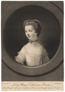 Lady Mary Catherine Bertie, by John Dixon, after  Matthew William Peters - NPG D17978