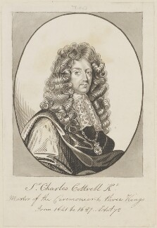Sir Charles Cotterell, possibly by George Perfect Harding, probably after  John Riley - NPG D14318