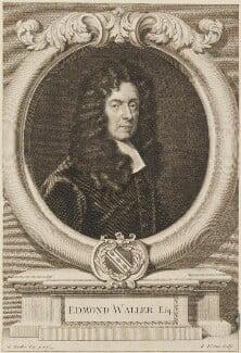 Edmund Waller, by George Vertue, after  Sir Godfrey Kneller, Bt - NPG D14319