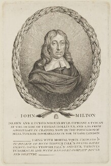 John Milton, by Giovanni Battista Cipriani, after  William Faithorne - NPG D14320