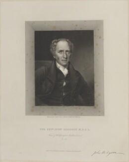John Hodgson, by Edward Scriven, published by  E. Chamley & J. Ackenhead, after  Harriet Frances Sophia Mackreth - NPG D14322