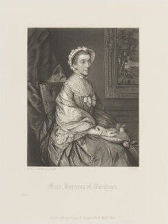 Mary Montagu, Duchess of Montagu, by James Scott, published by  Henry Graves, after  Thomas Gainsborough - NPG D14324