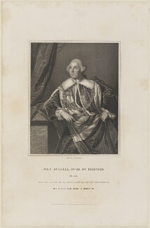 John Russell, 4th Duke of Bedford, by John Henry Robinson, published by  Harding & Lepard, after  Sir Joshua Reynolds - NPG D14333