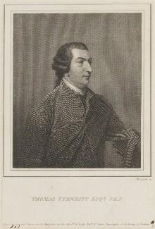 Thomas Tyrwhitt, by James Heath, after  Benjamin Wilson - NPG D14337