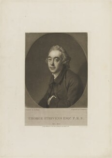 George Steevens, by Thomas Hodgetts, published for  John Samuel Murray, after  Johan Joseph Zoffany - NPG D14341