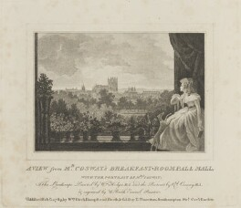 'A View from Mr Cosway's Breakfast-Room Pall Mall, with the Portrait of Mrs Cosway', by and published by William Russell Birch, sold by  Theophilus Thornton, after  Richard Cosway, and after  William Hodges - NPG D14342