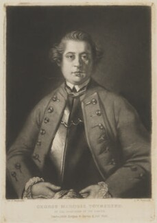George Townshend, 4th Viscount and 1st Marquess Townshend, by Samuel William Reynolds, published by  Hodgson & Graves, after  Sir Joshua Reynolds - NPG D14345