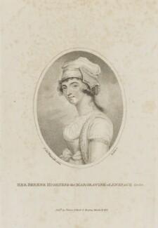 Elizabeth Craven (née Berkeley), Margravine of Brandenburg-Ansbach, by William Ridley, published by  Vernor & Hood, after  Sir Joshua Reynolds - NPG D14347