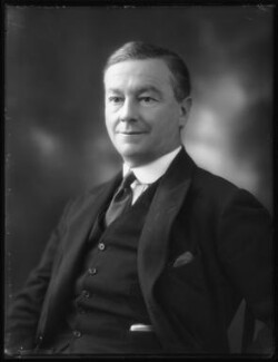 Sir Nairne Stewart Sandeman, 1st Bt, by Bassano Ltd - NPG x122821