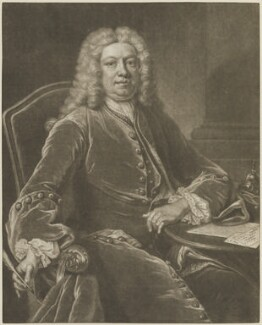 Horatio Walpole, 1st Baron Walpole of Wolterton, by John Simon, after  Jean Baptiste van Loo - NPG D14348