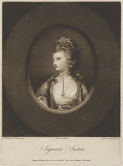 Giovanna Sestini, by John Jones, published by  Robert Wilkinson, after  William Lawranson - NPG D14349