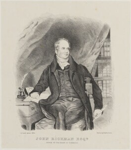 John Rickman, by Miss Turner, printed by  Graf & Soret, after  Samuel Lane - NPG D14356