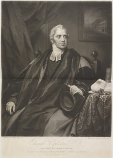 Edward Copleston, by Samuel William Reynolds, and by  Samuel Cousins, published by  James Wyatt, after  Thomas Phillips - NPG D14362