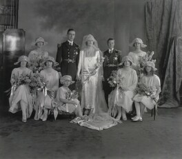 The Wedding of the Earl and Countess Mountbatten, by Vandyk - NPG x28911