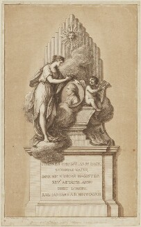 Monument of Johann Christian Bach, by Francesco Bartolozzi, published by and after  Agostino Carlini - NPG D14371