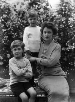 Hon. Michael Langhorne Astor; Sir John Jacob Astor; Nancy Astor, Viscountess Astor, by Bassano Ltd, 18 June 1923 - NPG x18824 - © National Portrait Gallery, London