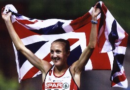 Paula Radcliffe, by Wolfgang Rattay, for  Reuters - NPG x126070