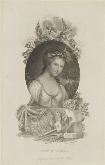 Anne Seymour Damer (née Conway), by Richard Cooper, published by  John Bell, after  Angelica Kauffmann - NPG D14379