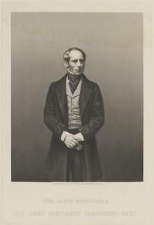 John Somerset Pakington, 1st Baron Hampton, by Daniel John Pound - NPG D14397