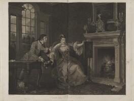 'The lady's last stake', by Thomas Cheesman, published by  Hurst, Robinson & Co, after  William Hogarth - NPG D14404