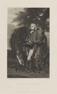 George Kein Hayward Coussmaker, by James Scott, published by  Henry Graves, after  Sir Joshua Reynolds - NPG D14405