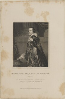 Charles Watson-Wentworth, 2nd Marquess of Rockingham, by W.T. Mote, published by  Harding & Lepard, after  Sir Joshua Reynolds - NPG D14415