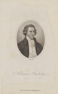 John Sawbridge, by William Ridley, published by  Vernor & Hood - NPG D14416