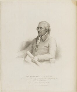 Isaac Barré, by William Thomas Fry, published by  T. Cadell & W. Davies, after  William Evans, after  Gilbert Stuart, published 1 February 1817 (circa 1785) - NPG D14418 - © National Portrait Gallery, London