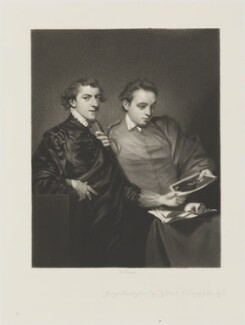 George Huddesford; John Codrington Warwick Bampfylde, by Arthur N. Sanders, published by  Henry Graves & Co, after  Sir Joshua Reynolds - NPG D14427