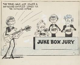 'Juke box jury' (Harold Wilson; Alec Douglas-Home; Jo Grimond), by Victor Weisz - NPG 6633