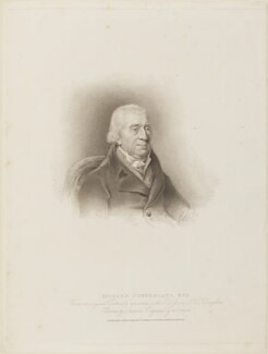 Richard Cumberland, by Edward Scriven, published by  T. Cadell & W. Davies, after  John Jackson, after  Joseph Clover, published 12 April 1814 - NPG D14434 - © National Portrait Gallery, London