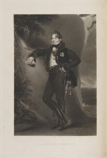 Sir Robert Ker Porter, by William Oakley Burgess, published by  Paul and Dominic Colnaghi & Co, after  George Henry Harlow - NPG D14453