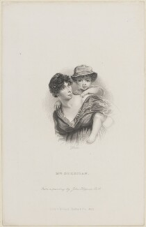 Esther Jane Sheridan (née Ogle); Charles Sheridan, by George J. Stodart, published by  Richard Bentley & Son, after  John Hoppner - NPG D14463