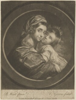 Elizabeth West (née Shewell); Raphael West, by Valentine Green, published by  Robert Sayer, after  Benjamin West - NPG D14480