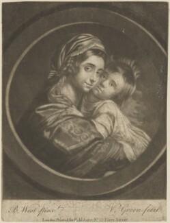 Elizabeth West (née Shewell); Raphael West, by Valentine Green, published by  Robert Sayer, after  Benjamin West - NPG D14480