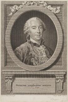 Georges Louis Leclerc, comte de Buffon, by Justus Chevillet, after  François Hubert Drouais - NPG D14482
