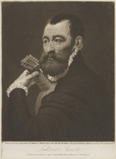 Ludovico Ariosto, by James Walker, published by  Hurst, Robinson & Co, after  Titian - NPG D14485