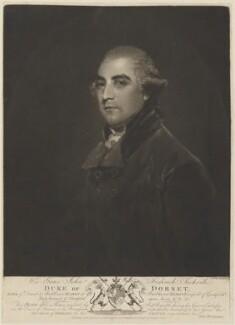 John Frederick Sackville, 3rd Duke of Dorset, by Thomas Hardy, published by  John Ginger, after  Sir Joshua Reynolds - NPG D14498
