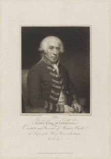 James Brudenell, 5th Earl of Cardigan, by and published by Joseph Collyer the Younger, after  Sir William Beechey - NPG D14499