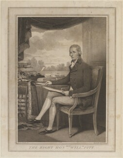 William Pitt, by Anthony Cardon, published by and after  Henry Edridge - NPG D14503