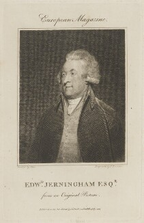 Edward Jerningham, by P. Thomson, published by  John Sewell, after  Sir Martin Archer Shee - NPG D14511