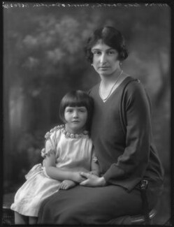 Lady Dorothie Mary Evelyn Moore (née Feilding) with her daughter, Ruth Mary Agnew (née Moore), by Bassano Ltd - NPG x37259