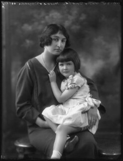 Lady Dorothie Mary Evelyn Moore (née Feilding) with her daughter, Ruth Mary Agnew (née Moore), by Bassano Ltd - NPG x37260