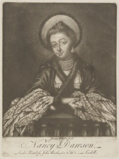 Nancy Dawson, by James Watson, published by  John Bowles, after  Charles Spooner - NPG D14527