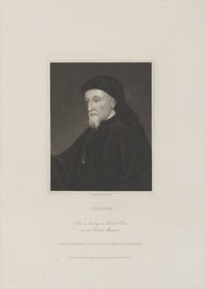Geoffrey Chaucer, by James Thomson (Thompson), published by  Charles Knight - NPG D14532